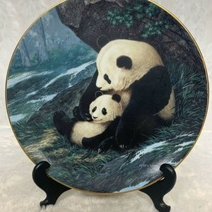 Will Nelson Lap of Love Panda Collectors Plate